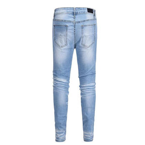 Distressed Denim - Blue - Premium, Affordable Streetwear