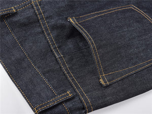 Zipper Denim - Blue/Orange Details - Premium, Affordable Streetwear