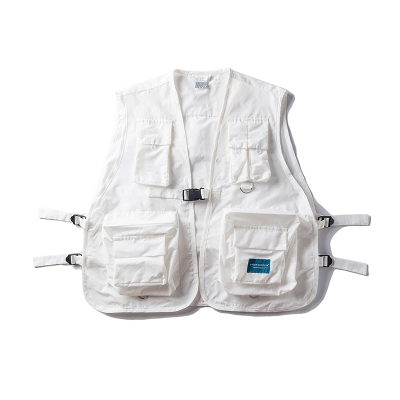 Military Vest - White - Insurgence Wear - Affordable Streetwear Essentials