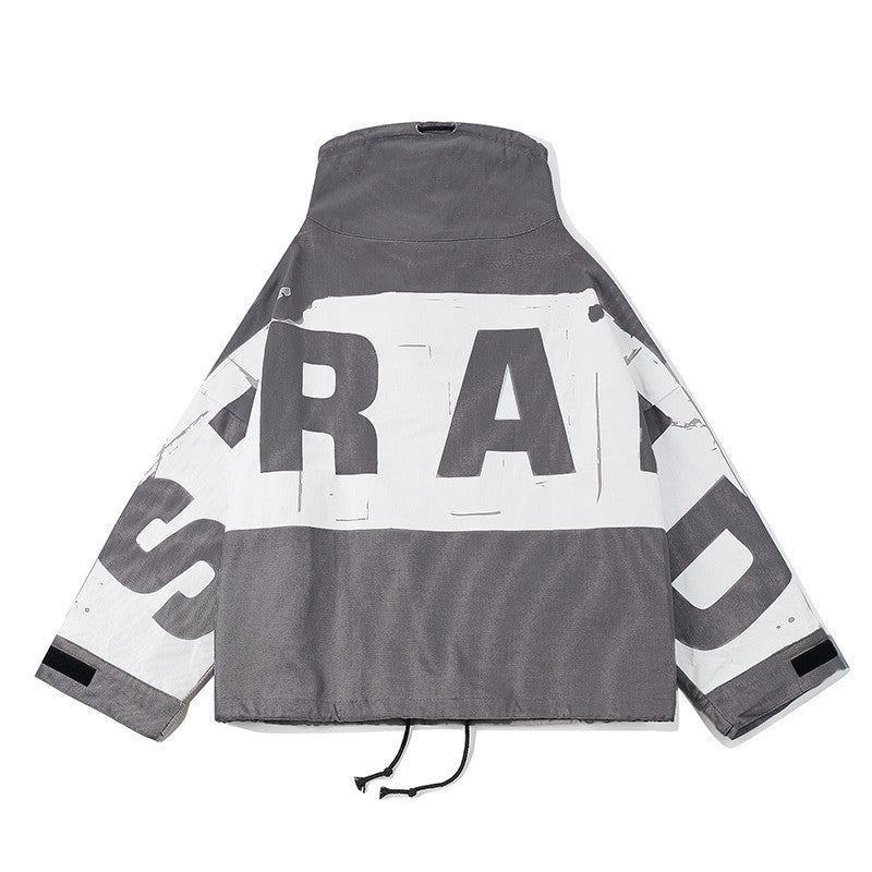 Oversized STRAED Jacket - Grey - Insurgence Wear - Streetwear Essentials