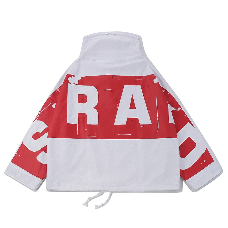 Oversized STRAED Jacket - Red - Insurgence Wear - Streetwear Essentials