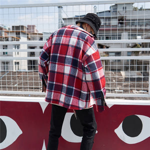 Oversized Checkered Flannel - Red - Insurgence Wear - Affordable Streetwear Essentials