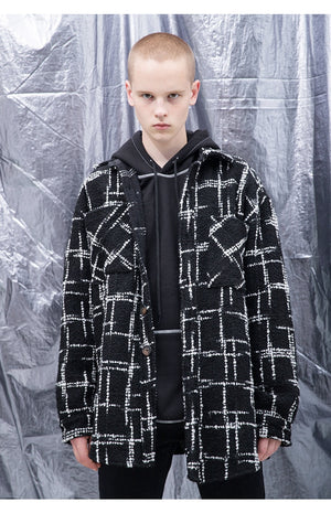 Oversized Wool Shirt - Black - Insurgence Wear - Streetwear Essentials