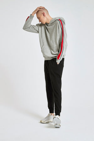 Dual Stripe Hoodie - Grey - Insurgence Wear - Affordable Streetwear Essentials