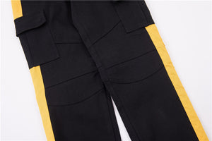 Retro Cargo Trackpants - Yellow - Insurgence Wear - Affordable Streetwear Essentials