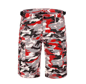 Camo Cargo Shorts - Red - Insurgence Wear - Affordable Streetwear Essentials