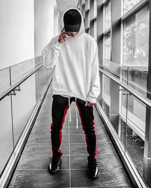 Retro Trackpants S2 - Black double Red - Quality Affordable Streetwear - Insurgence Wear
