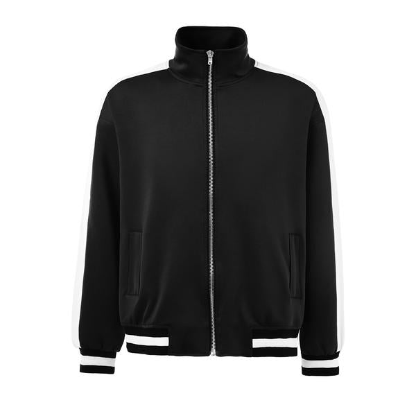 Retro Trackjacket - Black / White - Insurgence Wear - Affordable Streetwear Essentials