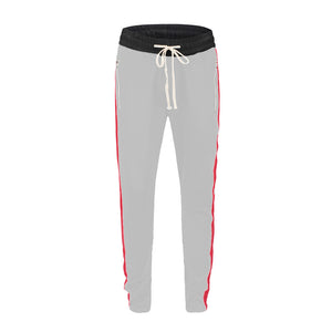 Retro Trackpants S1 - White / Red - Insurgence Wear - Affordable Streetwear Essentials