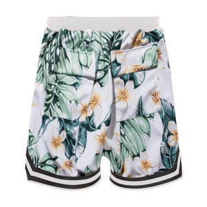 Floral Mesh Shorts - White - Insurgence Wear - Affordable Streetwear Essentials