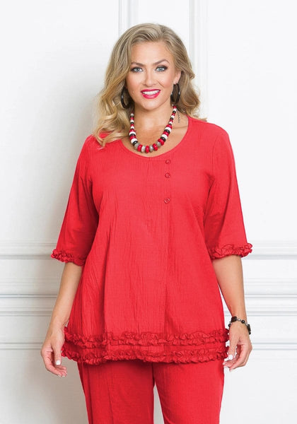 50029 Crinkle Cotton Top