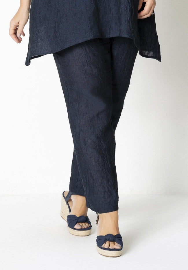72006 FULL LENGTH CRINKLE LINEN PANT