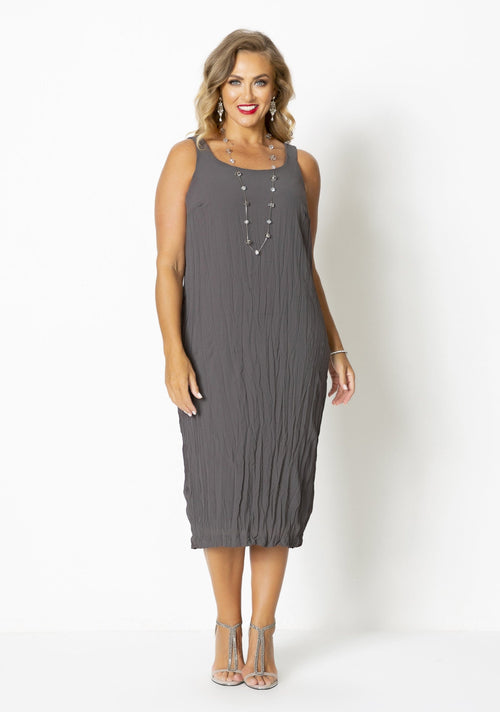 1063 CRUSHED BASIC DRESS