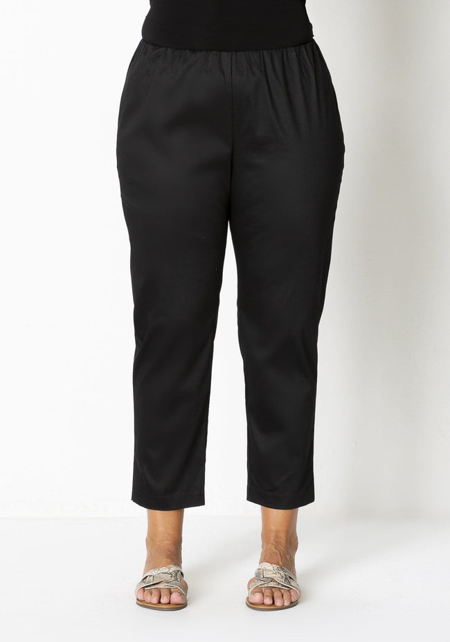 72007 SIDE SPLIT SATEEN PANT