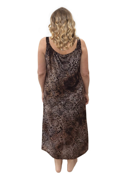 PJ046 MINK BURNOUT NIGHTIE