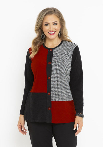 60091 SALT and PEPPER CARDI