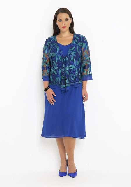 57013 Printed Rayon Dress