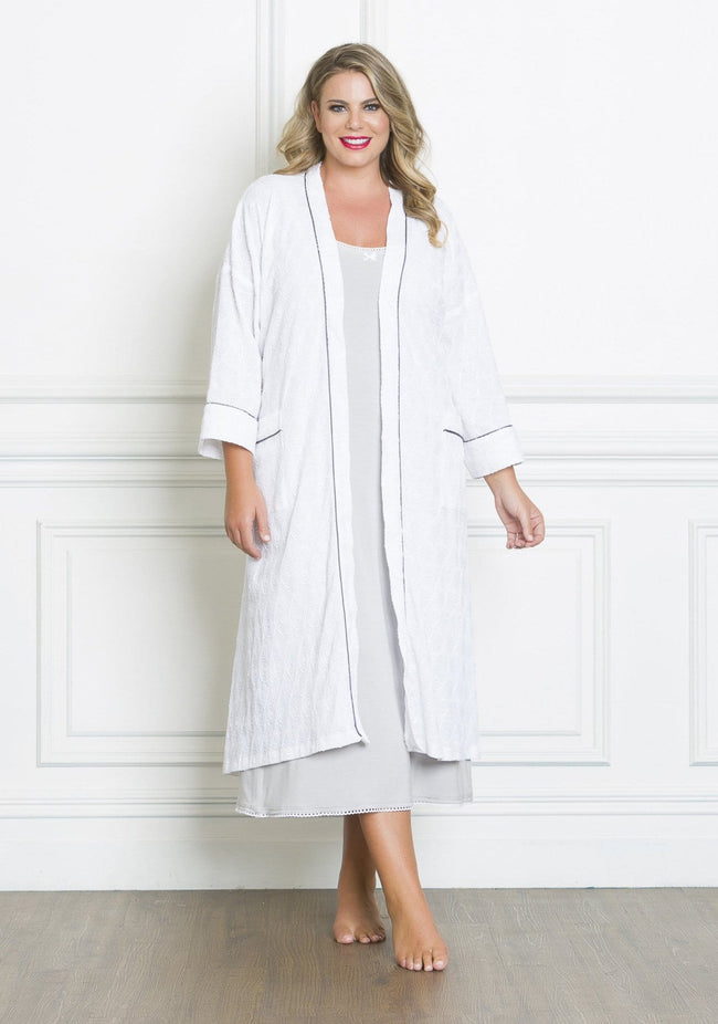 PJ013 TEXTURED DRESSING GOWN