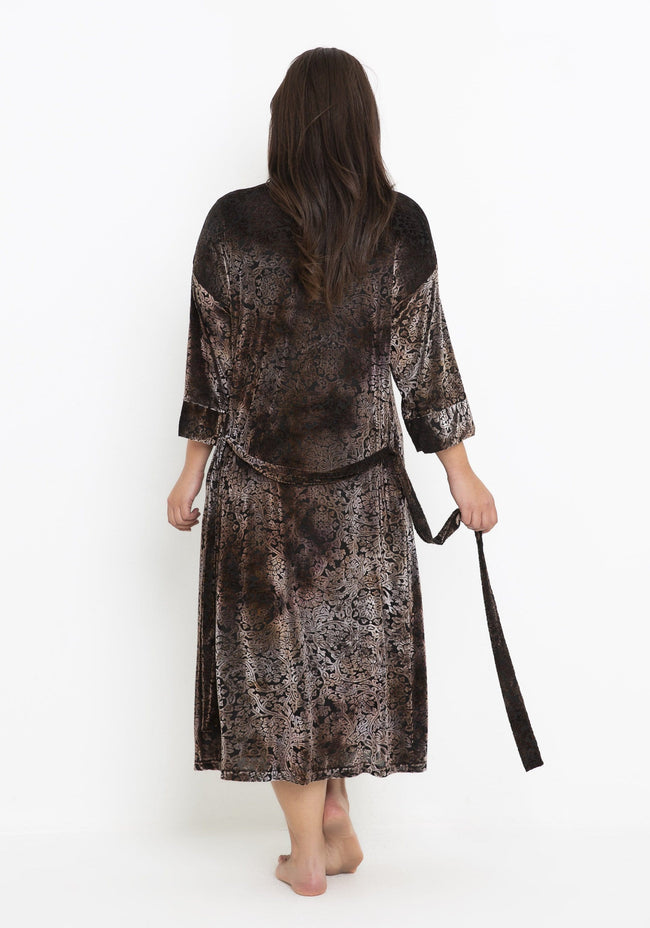 PJ045 MINK BURNOUT GOWN