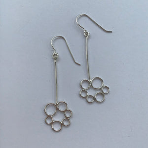 Bubble Flower Dangle Earrings