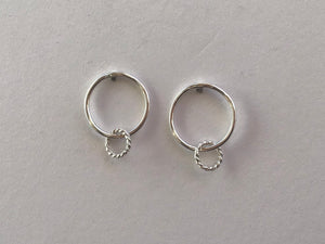 Small Circle Post Earrings