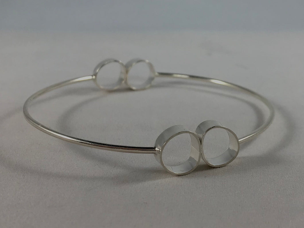 Large Rock Bangle Bracelet