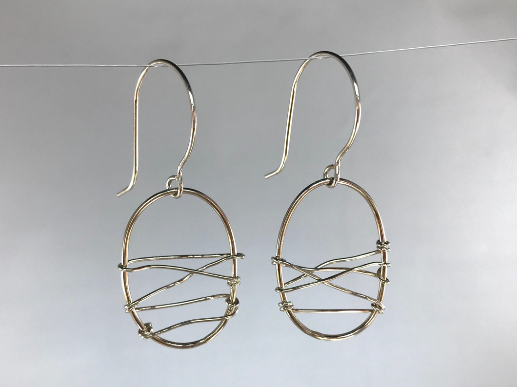 Wrapped a Wire Dangle Earrings
