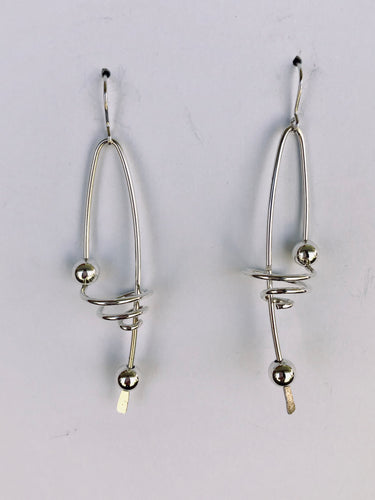 Long Twisted Earrings with Beads