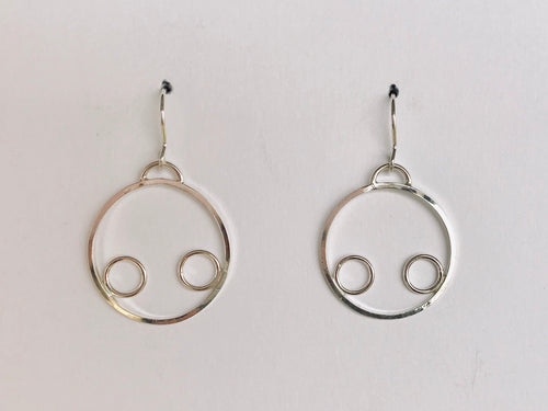 Enclosed Bubble Earrings