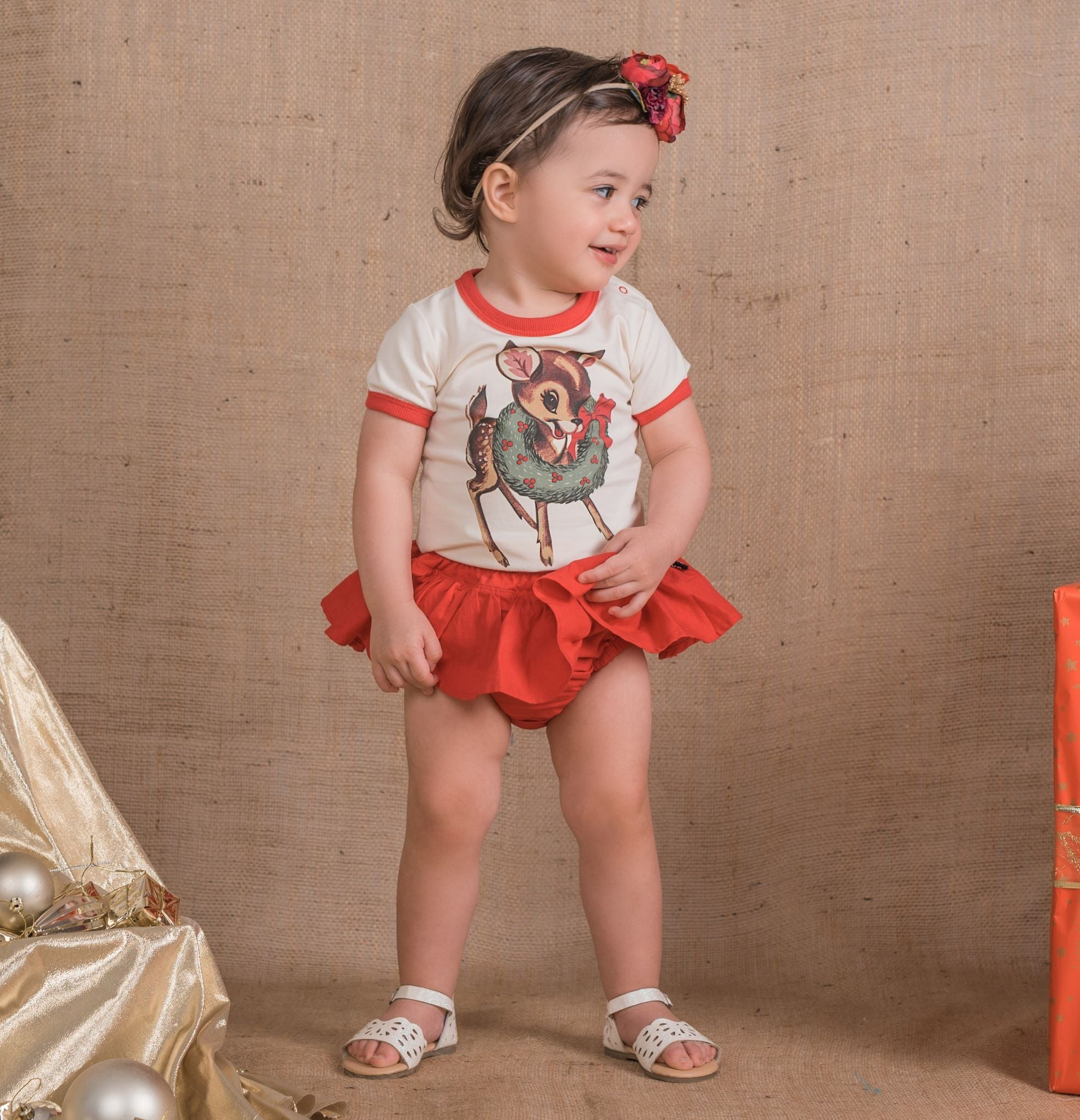 Rock Your Baby Ruffle Red Pant