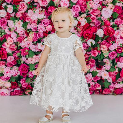 DESIGNER KIDZ Sophia Christening Gown Dress - Ivory