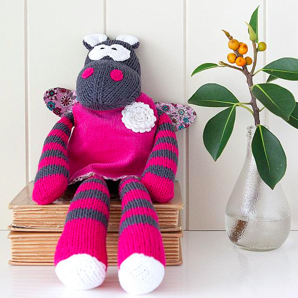 Hand Knitted Hazel Hippo