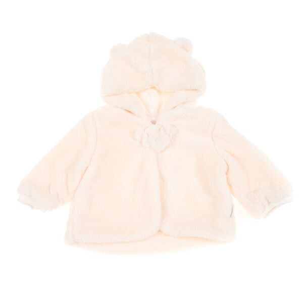 BRITT Teddy Ear Jacket - White  (1-2 years old)