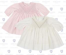 KORANGO Classic Baby Twill Smocked Dress