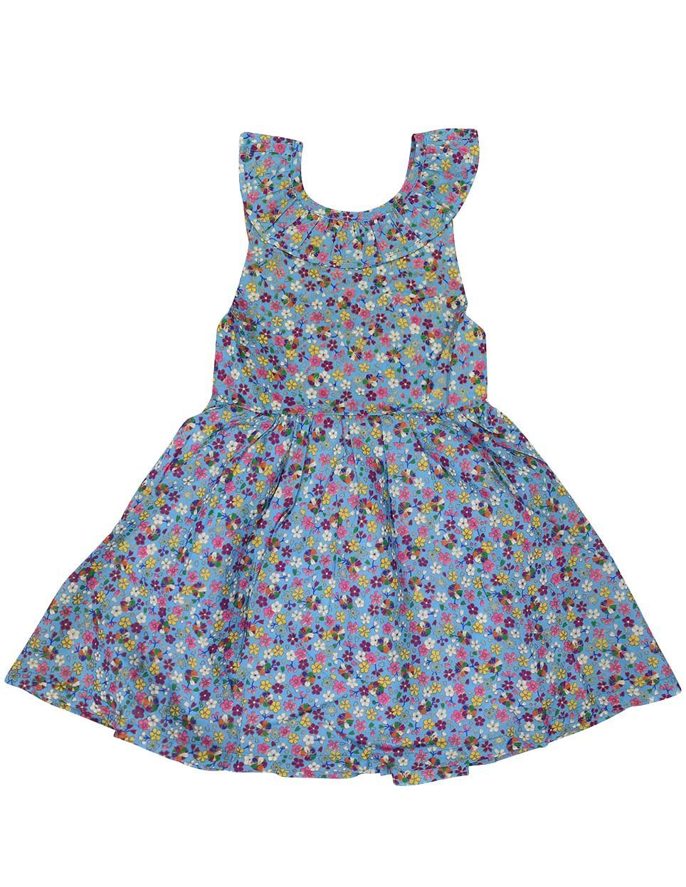 KORANGO Floral Dress in Blue