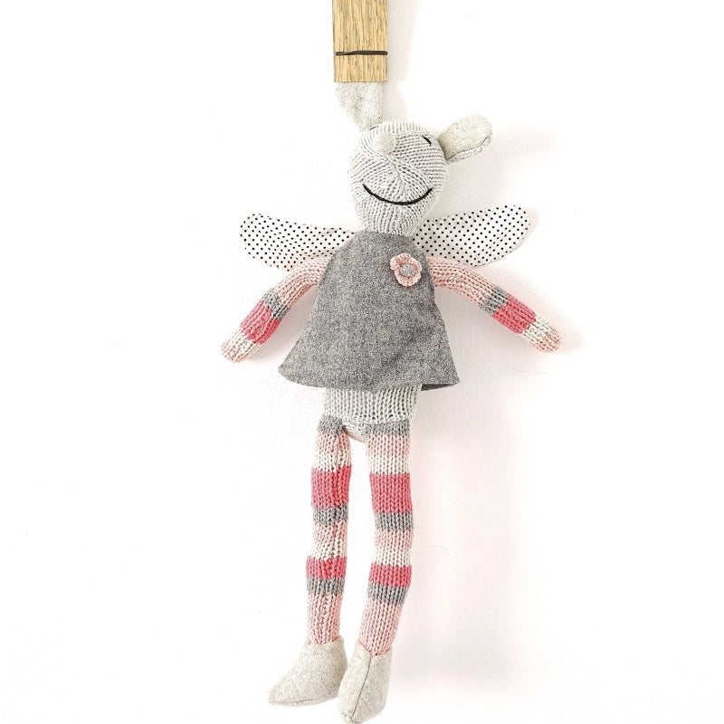 Hand Knitted 'millicent' the Fairy Mouse