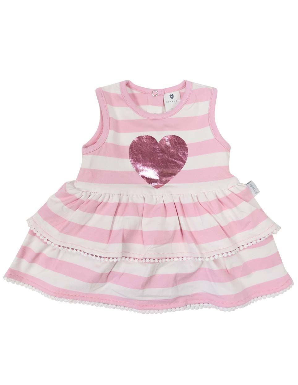 KORANGO Heart Dress in Pink