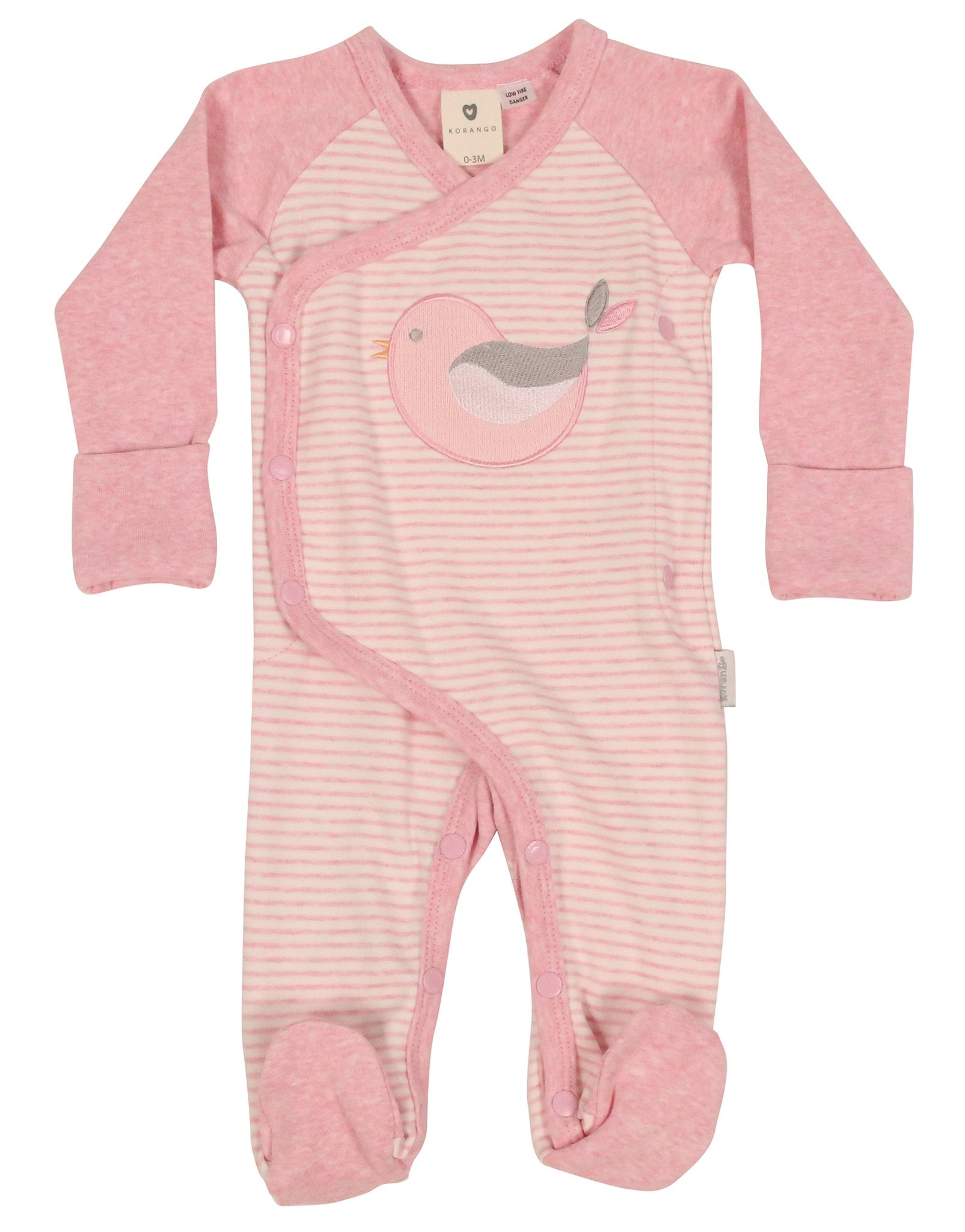 KORANGO - Baby Bird Long Sleeve Romper