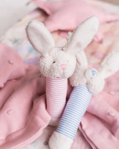 NANA HUCHY Bella The Bunny Baby Rattle - Pink
