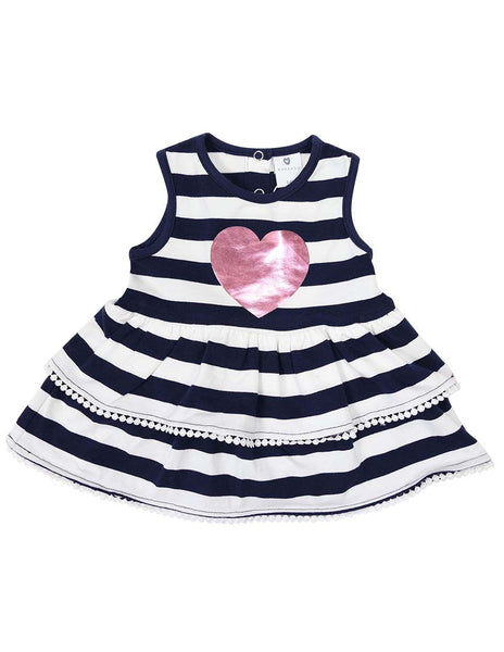 KORANGO Heart Dress in Navy