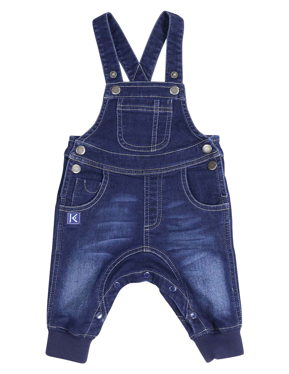 KORANGO Tiger Denim Knit Overall in Dark