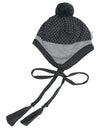 Korango Adventure Tiger Lined Knit Beanie in Charcoal