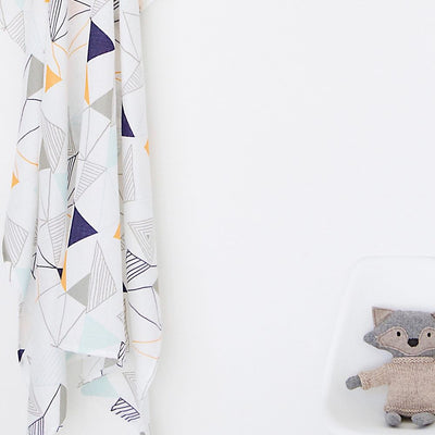 And The Little Dog Laughed Geometric Muslin Wrap