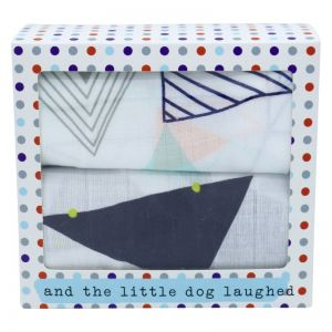 And The Little Dog Laughed Geometric Muslin Wrap - Twin Pack