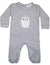 KORANGO Baby Penguin Long Sleeve Romper in Grey Marle
