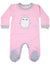 KORANGO Baby Penguin Long Sleeve Romper in Pink Marle