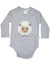 KORANGO Baa Baa White Sheep Bodysuit with Applique in Grey