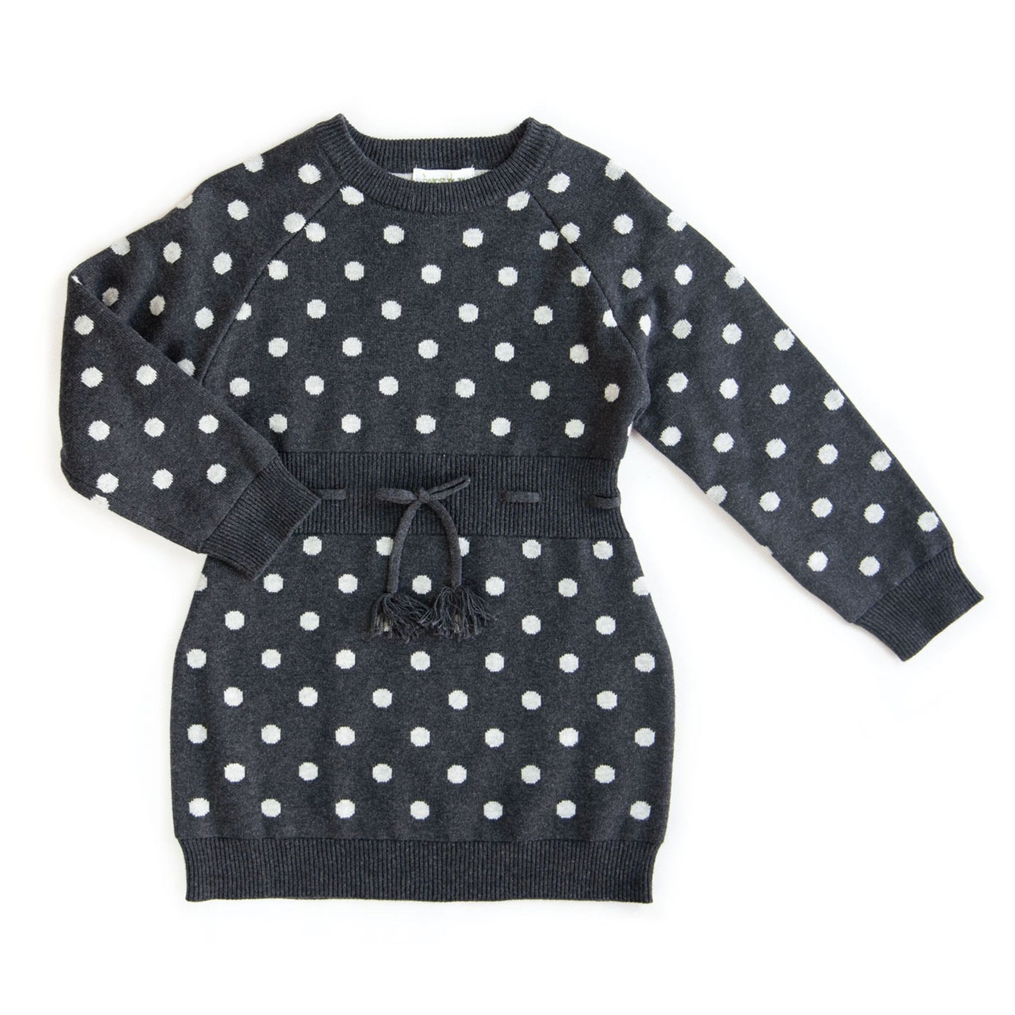 BEANSTORK - Spot Rib Dress Charcoal Marle