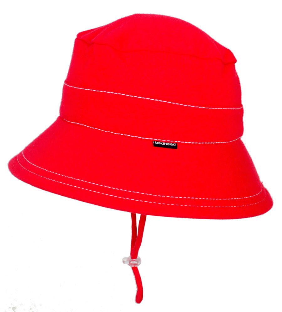 BEDHEAD  Baby's First Bucket Hat with Strap - Red