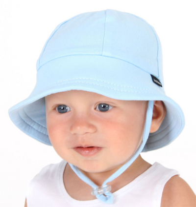 BEDHEAD Baby's First Bucket Hat with strap - Blue